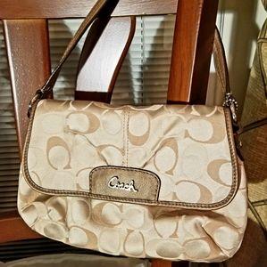 NWOT! Authentic Coach Pleated Demi Shoulder Bag